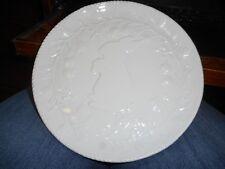 "New White Dolomite 8"" Bunny Rabbit Dessert Salad Plate"