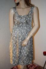 H&M Kleid silber - weiß seidenglatt bildhübsch fein  Gr. 38