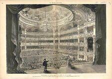 Inauguration du Nouvel Opéra Garnier à Paris Salle Scène France GRAVURE 1875