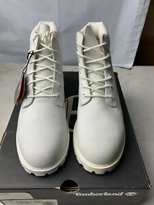 Timberland 6 Inch Premium White Waterproof Juniors Boot A1MLI