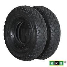 2 St. HKB® Sackkarren-Reifen ohne Schlauch 3,00-4, Gummi schwarz, 181610