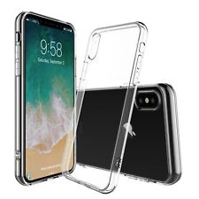 lot of 10 For iPhone X / 10 CLEAR TPU Bumper Soft Gel slim fit thin Case Cover
