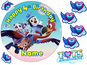 T.O.T.S INSPIRED PERSONALISED EDIBLE ICING CAKE TOPPER UP TO A3
