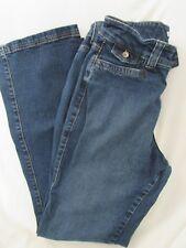 """Ladies """"Lee"""" Size 12L (W30/L31) Blue,Two Vertical Button Closure, Boot Cut Jeans"""
