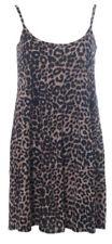Animal Print Spaghetti Strap Dresses Leopard