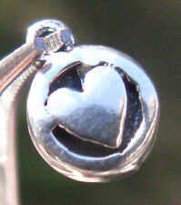 Vintage Sterling Silver HEART LOVE Pendant Charm STAMPED Not Scrap Jewelry