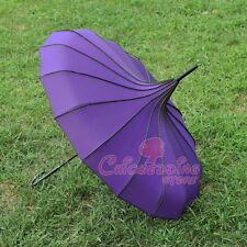 Purple Pagoda Parasol Wind-proof /Waterproof Umbrella Wedding Bride Parasol