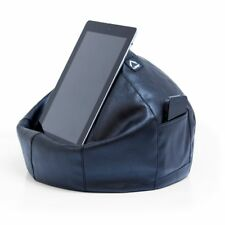 iCrib Tablet Bean Bag Cushion - Black Faux Leather – pillow stand ipad Samsung