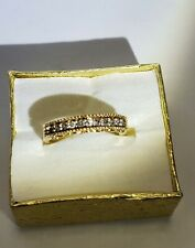 BEAUTIFUL 10K SOLID GOLD RING WITH DIAMONDS SIZE 6, LOOK!