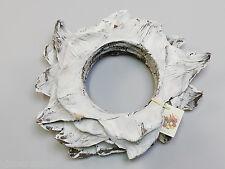 Corona de Agave en Blanco para Decoración Madera Puerta Deco Otoño Primavera