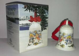Hutschenreuther Weihnachtsglocke 1985 mit bunter OVP / u.a. angeboten