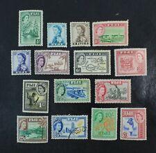 Ckstamps: Gb Stamps Fiji Scott#147-162 Mint H Og 3 Used #161 162 Nh 6d Ng