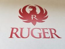Ruger Seal Decal Sticker hand gun rifle for auto black chrome & other colors!