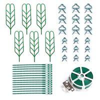 37x Indoor Plant Trellis Garden Plant Support Set Clips Zip Ties Wire Twist Ties