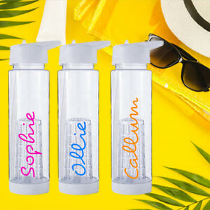 Personalised Water Bottle Love Any Name Island TV Show Exact Font Colours 2021
