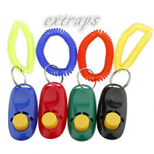 1XPet Dog Bird Cat Horse Button Click Clicker Training Obedience Aid Wrist Strap