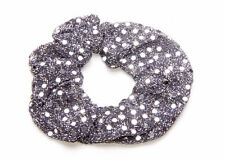 GUNMETAL METALLIC SEQUIN EFFECT ELASTIC HAIRBAND FOR SPECIAL OCCASIONS(ZX43)
