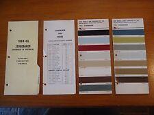 Studebaker 1964 Original Berger Paint Colour Chip Charts Mix Formula