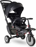 SmarTrike STR7 Urban 7 in 1 Kids Compact Folding Stroller Trike Black 6-36 M New