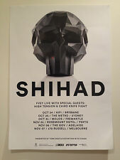 SHIHAD 2014 Australian Tour Poster A2 FVEY Pacifier Ignite Beautiful Machine NEW