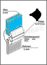 Qek Junior FENSTERGUMMI SCHEIBENGUMMI SCHEIBENDICHTUNG Glas 5mm Rahmen 3mm H29,5