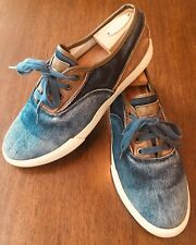 LEVI'S Vtg Sneakers Casual Jean Canvas Denim Oxford Fashion Sneakers US 9.5 #191