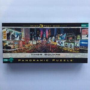 Times Square New York Jigsaw Puzzle 750 Piece Buffalo Games Panoramic EUC