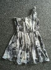 Stunning ladies size 14 'Miso' grey/black leopard animal print mini skater dress