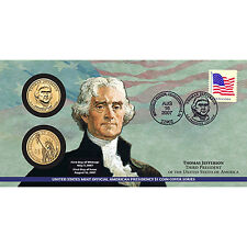 2007 THOMAS JEFFERSON $1 COIN COVER (P23) (MINT SEALED) 4 COVERS