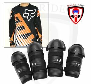 Motorcycle Dry Fit Jersey Longsleeve With Gear Set - (BLACK/ORANGE) LARGE
