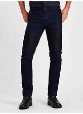 Guess Slim Tapered Jeans Espionage Coated Wash 3 & Black Contrast Panels Size 38