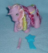 Rare Vintage My Little Pony 'Streaky' Rainbow Curl Pony with Brush MLP G1- EUC!