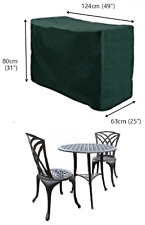Bosmere C511 deluxe polyester waterproof 2 seater bistro set cover - green