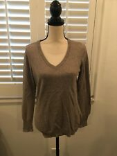 Women's Gap Cashmere Blend Long Sleeve V Neck Sweater - Tan - Size S