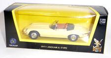 1971 Jaguar E-Type Cabrio Sammlermodell ca. 1:43 / 11cm beige Lucky Diecast