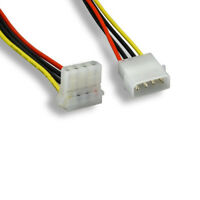 "Kentek 8"" 4Pin Molex 5.25 Male to Right Angle Female IDE Internal PC Power Cable"