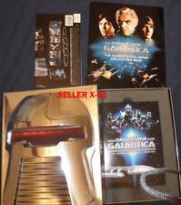 BATTLESTAR GALACTICA DVD set RARE CYLON head PACKAGE + BOOK apollo starbuck