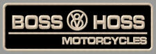"BOSS HOSS V8 MOTORCYCLES EMBROIDERED PATCH ~5-7/8"" x 2"" BIKES POWER BIG BLOCK ."
