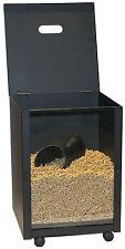 Pelletbehälter mit Deckel Lienbacher schwarz 39x39x52cm