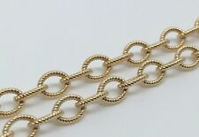 14K YELLOW GOLD FANCY LINK 20' LOBSTER CLASP 4 MM NECKLACE CHAIN