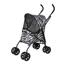 Pet 4-Wheel Jogging Stroller Travel Foldable Stroller Carrier Cat Dog Outdoor