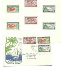 Tokelau Cover 1948 With Mint Hinged Stamps