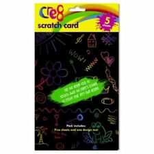A5 Scratch Art Doodle Sheets Card Craft Drawing Activity's Rainbow Party Bag