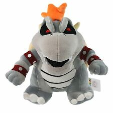 "Super Mario Bros Dry Bowser Bones Koopa Plush Toy Soft Doll 10"" Kids Best Gift"