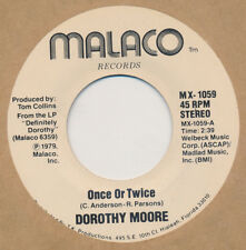 DOROTHY MOORE Once Or Twice / Love Me 45 rpm