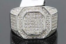 .87 CARAT GENUINE DIAMONDS MENS WHITE GOLD FINISH ENGAGEMENT DIAMOND RING PINKY