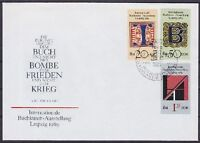 DDR FDC 3245 - 3247 mit SST Berlin Buchkunst 1989, first day cover