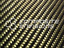 "Carbon Fiber Yellow Kevlar Panel Sheet .122""/3.1mm 2x2 twill - EPOXY-12"" x 48"""