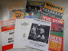 Collection Of Football Programmes Against Foreign Opposition