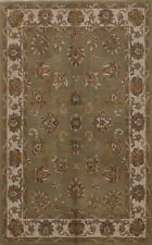 All-Over Floral SAGE GREEN Agra Hand-Tufted Nourison Oriental Area Rug Wool 5x7